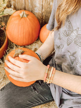 Load image into Gallery viewer, London Lane Pumpkin Patch Heishi Bracelet Stack