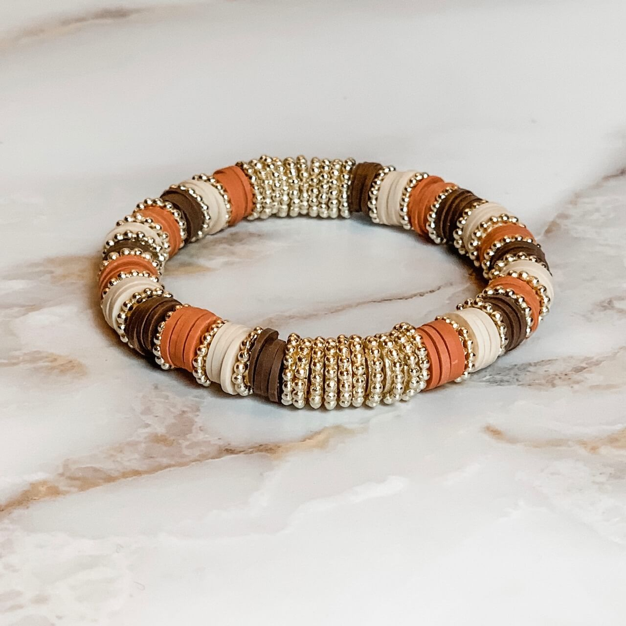 London Lane Trio Heishi Bracelet