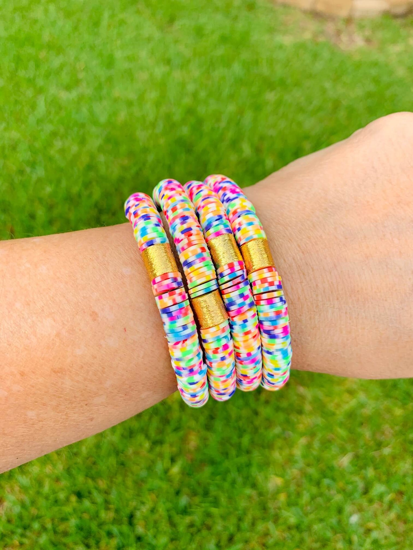 London Lane Summer Crush Heishi Bead Braclet