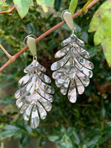 Marbled Leaf Earrings