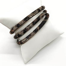 Load image into Gallery viewer, Leopard Sparkle Bangle Bracelet Set