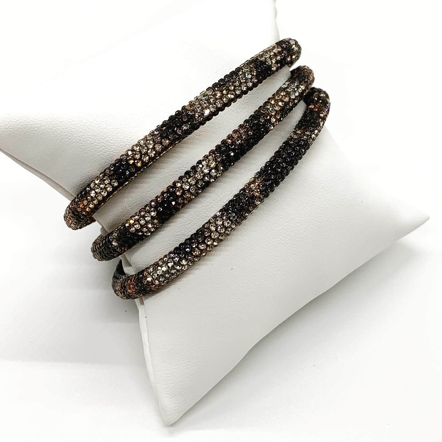 Leopard Sparkle Bangle Bracelet Set