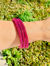 Load image into Gallery viewer, Hot Pink Sparkle Bangle Bracelet Set