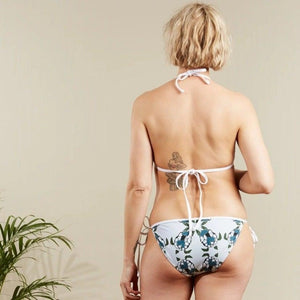 Eco-friendly animal print bikini