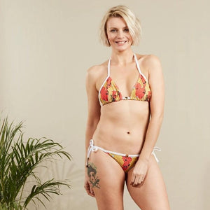 Sustainable animal print swimwear