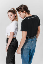 Load image into Gallery viewer, Soft Made from Milk Black and White Couple Tee