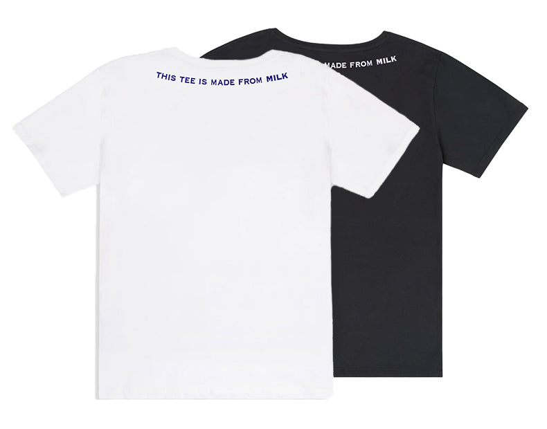 Soft Made from Milk Black and White Couple Tee