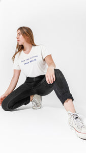 Odor-Free Made from Milk Women White Tee