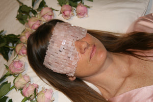 Luxurious Rose Quartz Eye Mask