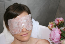 Load image into Gallery viewer, Luxurious Rose Quartz Eye Mask