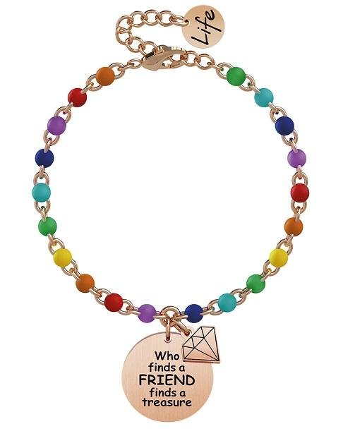 Bracciale Kidult donna  WHO FINDS A FRIEND FINDS A TREASURE 731817