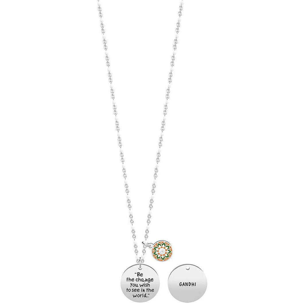 Collana donna Kidult BE THE CHANGE YOU WISH ... GANDHI 751200