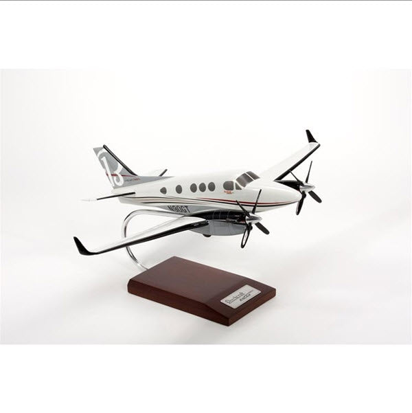 Beechcraft King Air C-90 GTX Turboprop Aircraft 1/32 Scale Desk Model