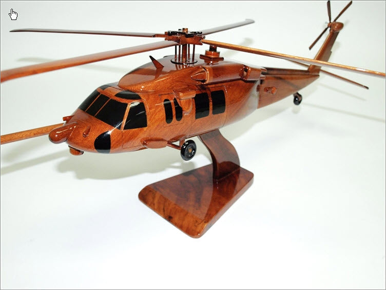 MH-60S Knighthawk Helicopter Beautiful Premium Mahogany Wood Display Desk Model