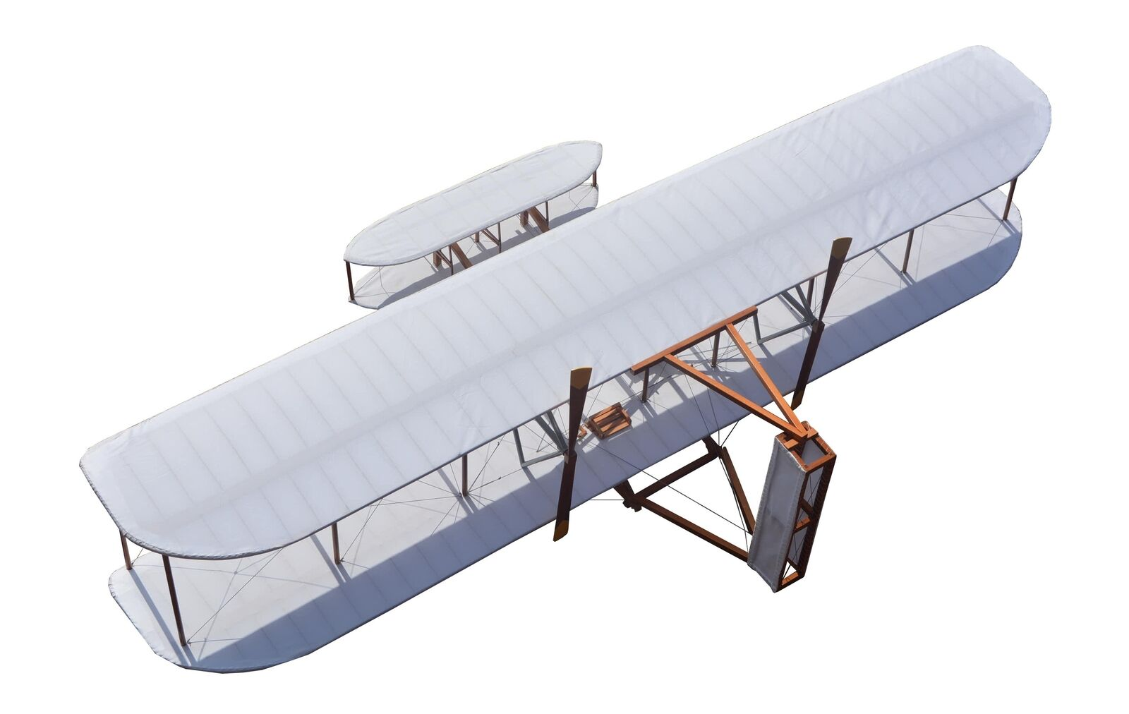 All Cedar 8' Wide 1903 Wright Brothers Flyer Airplane Model