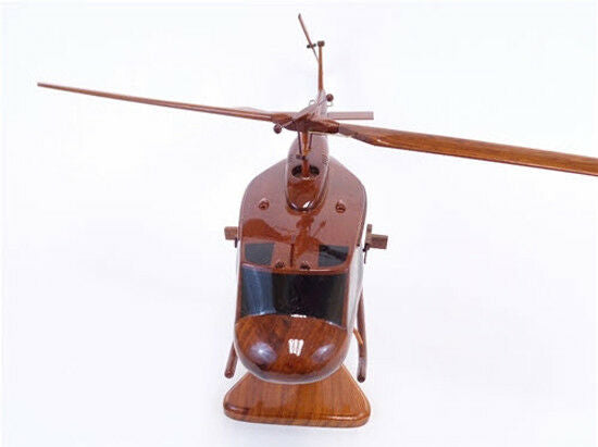 UH-1 Bell Huey Helicopter Handcrafted Natural Premium Wood Desk Model