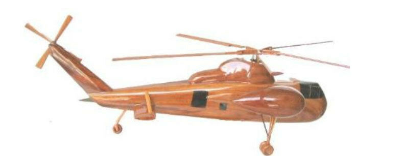 CH-37 Mojave S-56 Helicopter Beautiful Premium Mahogany Wood Display Desk Model