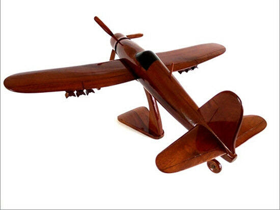 F4U Corsair Fighter/Bomber Handcrafted Natural Premium Wood Desk Model