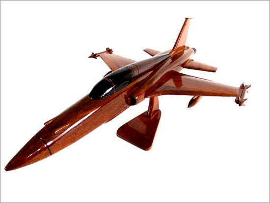 F-5 Freedom Fighter Handcrafted Natural Premium Wood Desk Model