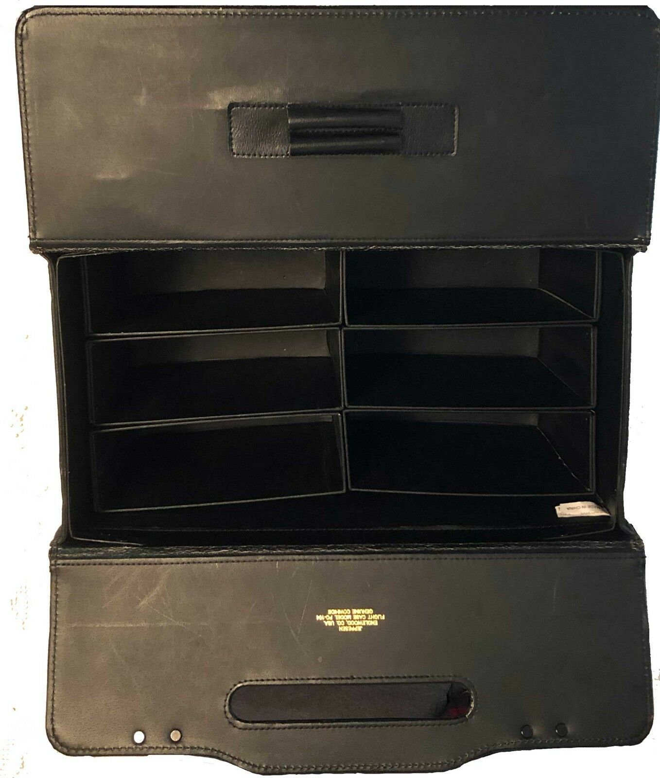 Jeppesen FC104 Top Grain Cowhide Black Flight Case