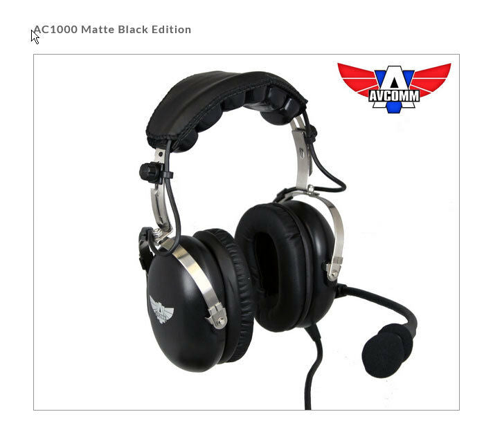 Avcomm AC1000 Matte Black Edition ANR Bluetooth Headset