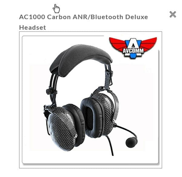 Avcomm Carbon ANR Bluetooth DLX Headset AC-1000