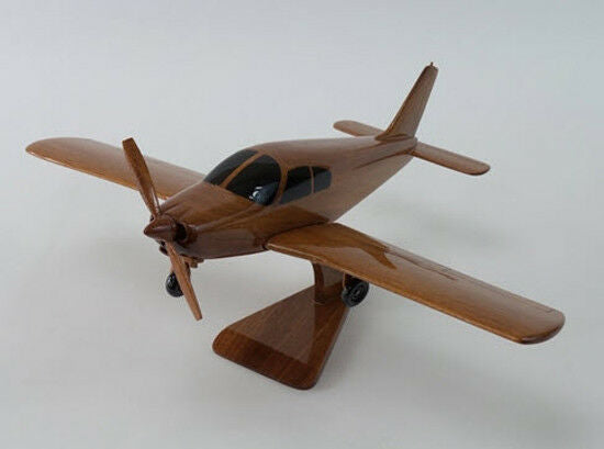 Piper Cherokee Trainer Handcrafted Natural Mahogany Premium Wood Desk Model