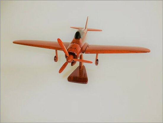 Mitsubishi A6M Zero Handcrafted Natural Mahogany Premium Wood Desk Model