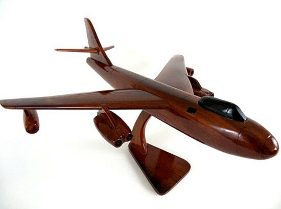 B-47 Stratojet Bomber Handcrafted Natural Mahogany Premium Wood Desk Model