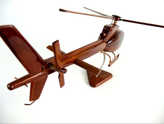 A-Star 350 Helicopter Handcrafted Natural Mahogany Premium Wood Desk Model
