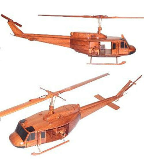 UH-1 D/H Huey Iriquois Helicopter Premium Mahogany Wood Display Desk Model