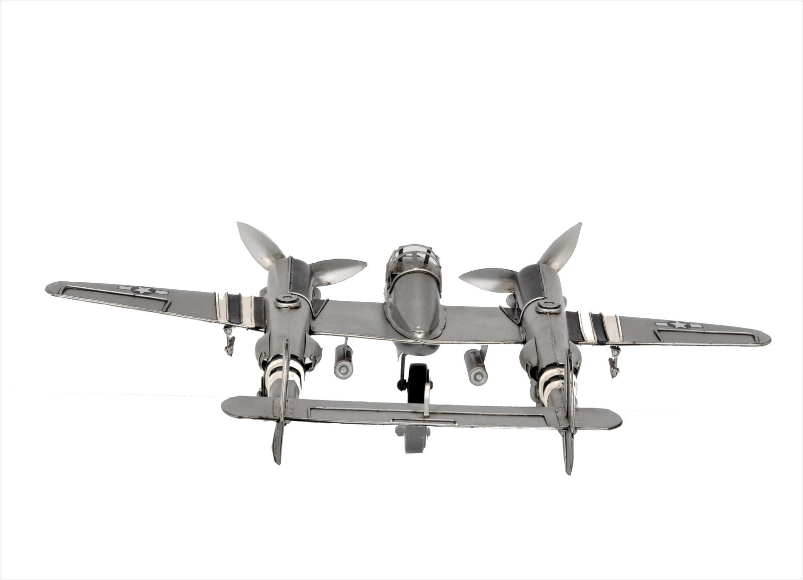All Metal 1941 Lockheed P-38 Lightning Fighter Model Airplane