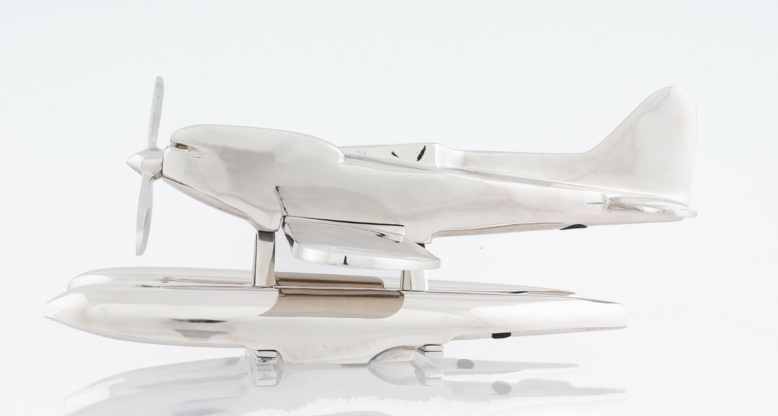 "Aluminum Seaplane Metal Desk Model 16.5"" Long 17"" Wide 7"" High"