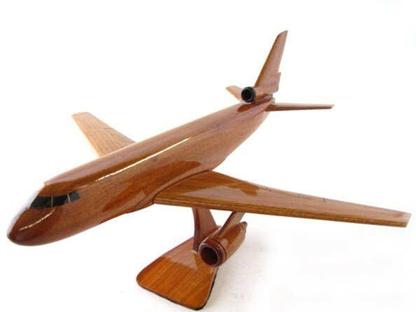KC-10 Extender Tanker Handcrafted Natural Mahogany Premium Wood Desk Model