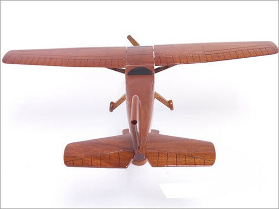 Cessna 172 Skyhawk Handcrafted Natural Mahogany Premium Wood Desk Model