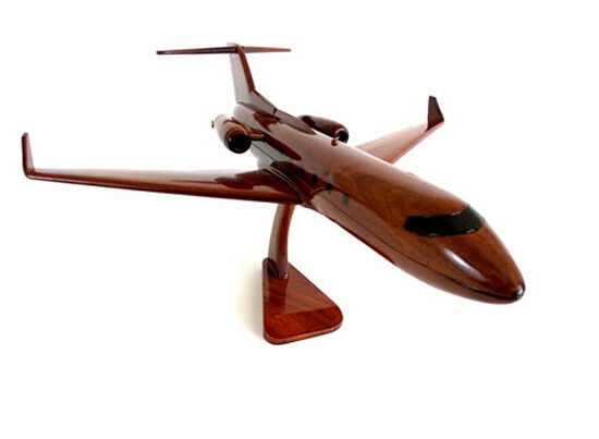 Gulfstream G650 Corporate Handcrafted Natural Mahogany Premium Wood Desk Model