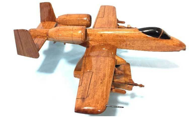 A10 Warthog Highly Detailed Handcrafted Premium Mahogany Wood Display Desk Model