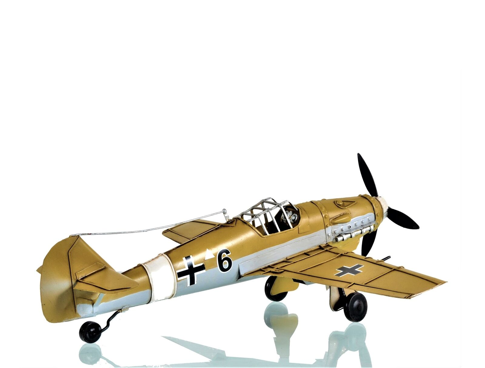 All Metal 1935 Messerschmitt BF 109 Fighter Airplane Model