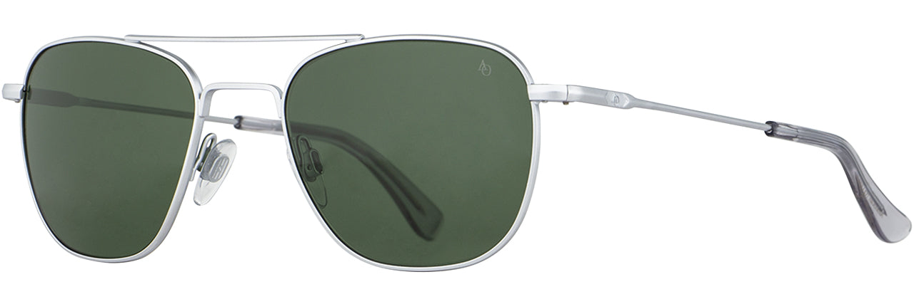 AO Original Pilot Matte Chrome Frame Green Nylon Lens Sunglass(All Variations)