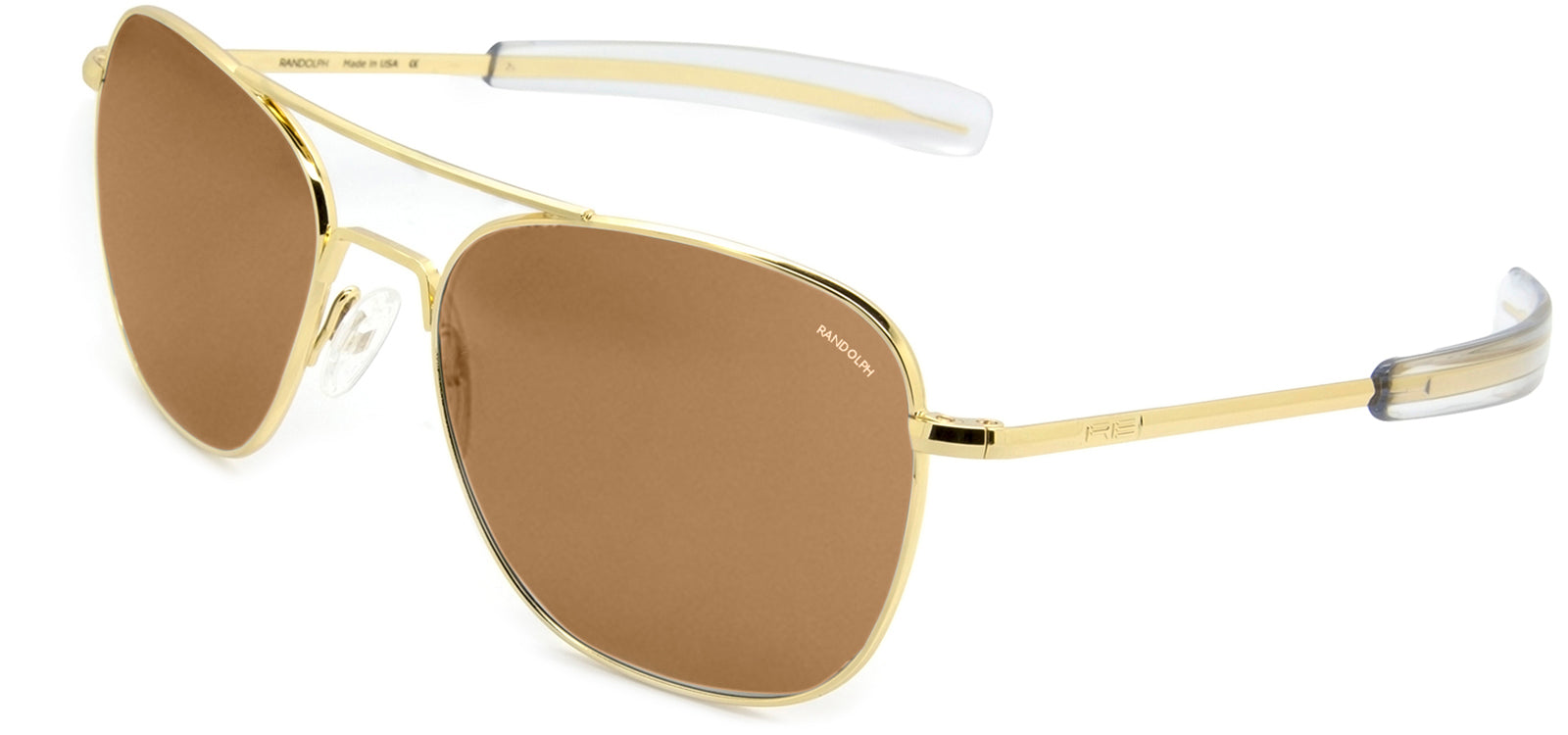 Single Vision 23K Gold Frame Randolph Aviator Prescription Sunglasses