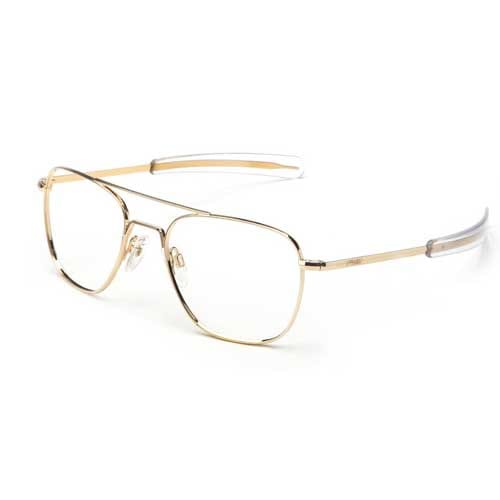 23K Gold Frame Bayonet Temple Randolph Aviator Prescription Frame