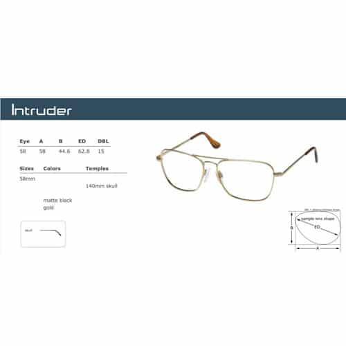 Randolph Engineering Intruder Sunglasses Technical Specifications