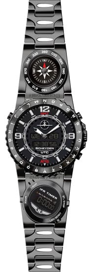 Scheyden Stealth Black Aviator Watch