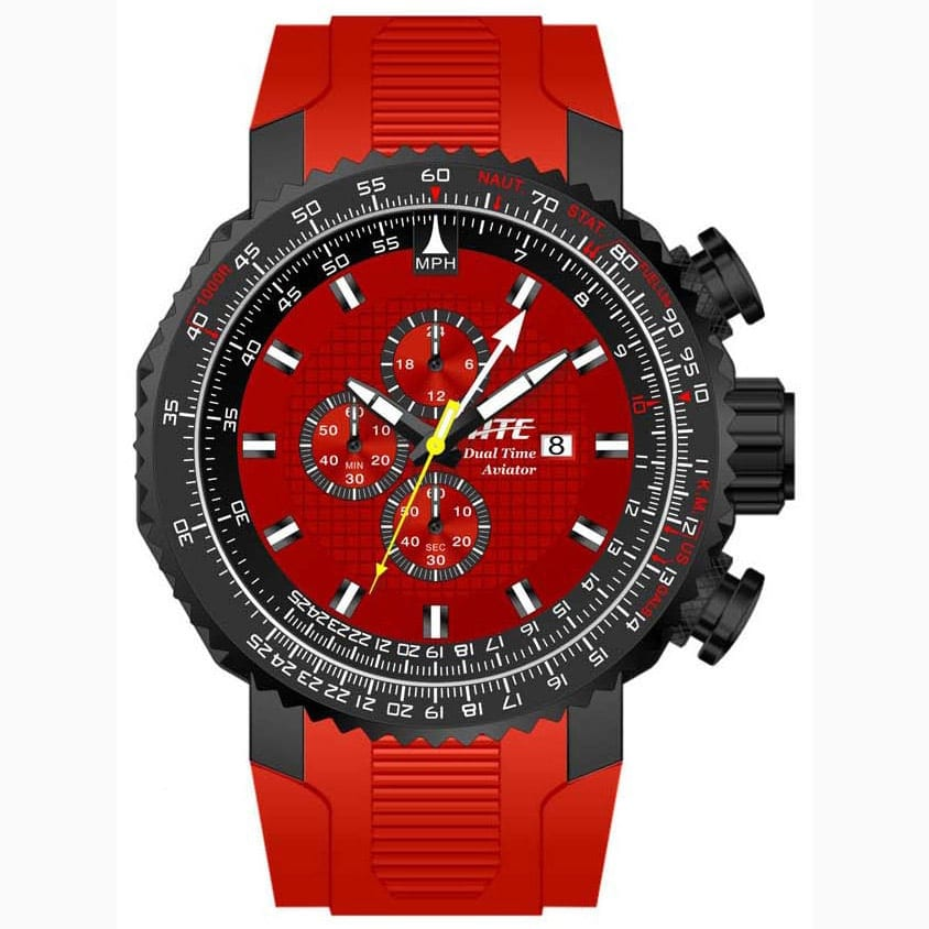 Red Pilot Aviator Chronograph ATC2250R
