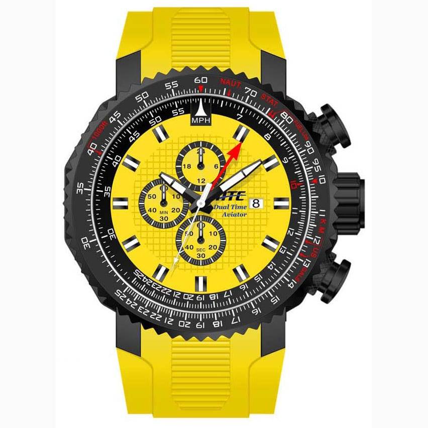 Yellow Pilot Aviator Chronograph ATC2250Y