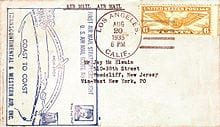 A Postcard  Flown By Wiley Post  On A Transcontinental Fl