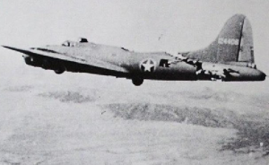 "The B-17 Flying Fortress ""All American"" Returning From Battle"