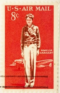 Amelia Earhart is honored with a stamp in 1963