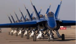 "The Blue Angels McDonnell Douglas F/A-18 ""Hornet"" Aircraft"