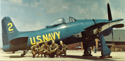 The Blue Angels Grumman F8F Bearcat Aircraft